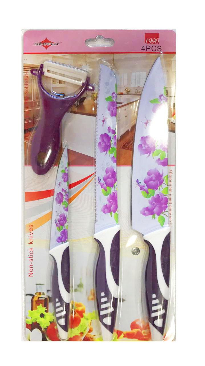 Набор ножей 3 шт и овощечистка