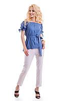 Белые женские укороченные брюки