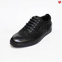 Мужские кожаные туфли спортивные Basconi