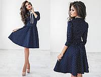 Коттоновое платье с принтом 1028 ПА  M