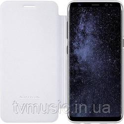 Чехол-книжка Nillkin Sparkle Leather PU White для Samsung S8 G950