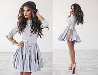 Женское платье искусственная замша с пуговицами 3004 ПА