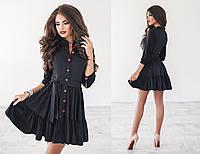 Женское платье искусственная замша с пуговицами 3004.1 ПА