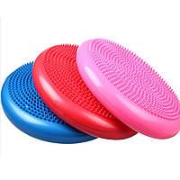 Подушка балансировочная для фитнеса 1712, 3 цвета: диаметр 33см