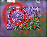 Схема для вышивки бисером часы Цветочное поле