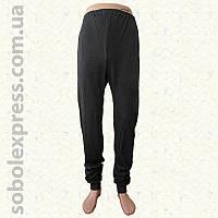 Спортивные мужские штаны с манжетом черные (Белорусский трикотаж)