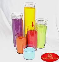 Ваза стеклянная цилиндр 265 х 110 мм. Колба для насыпной свечи - ваза, подсвечник, фото 1