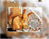 Схема для вышивки бисером часы Белочка