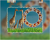 Схема для вышивки бисером часы Жирафы