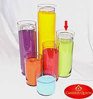 Ваза цилиндр 315 х120 мм  Ваза подсвечник, ваза стеклянная для цветов, фото 1