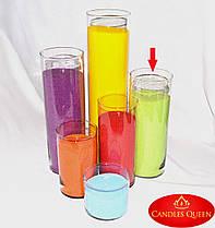 Ваза цилиндр 315 х120 мм  Ваза подсвечник, ваза стеклянная для цветов