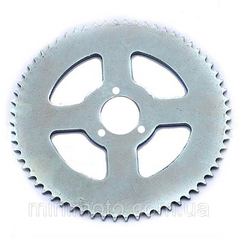 Звезда задняя минимото, детский квадроцикл (цепь 25H) 68z (D=29mm) на три болта