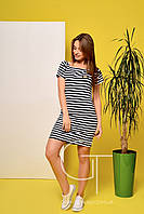Платье -22165 (Синий-белый)