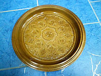 Тарелка  деревянная, декоративная, ручная авторская работа