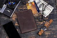 Небольшой кожаный мужской портмоне Флагман. Хорошее качество. Ручная работа. Купить в интернете. Код: КДН2071