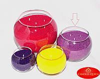 Ваза шар для насыпной свечи, флористики - 120х150 мм, фото 1