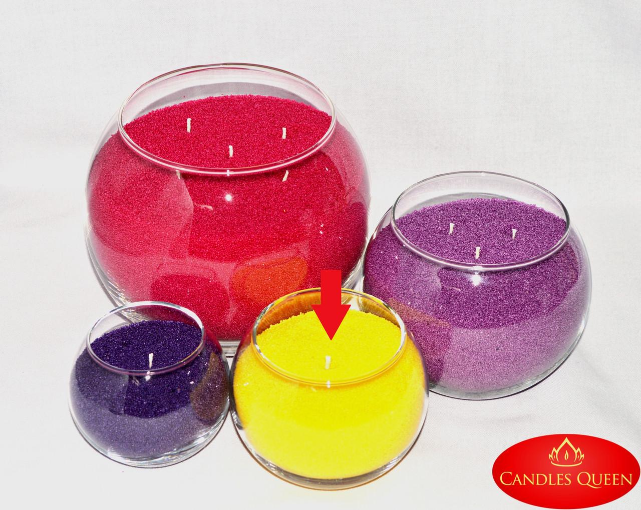 Ваза шар для насыпной свечи, флористики 100 х 120 мм