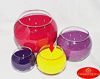 Ваза шар для насыпной свечи, флористики 100 х 120 мм, фото 1