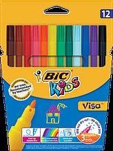 Фломастеры  Bic VISA ™ 12цв