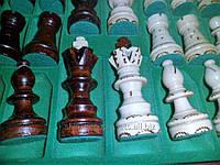 Шахматы декоративные, ручной работы, дерево дуб, мягкая внутринняя обшивка