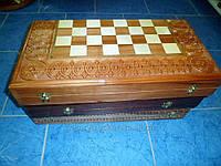 Шахматы комплектные, шашки, нарды, ручная, авторская работа, дерево бук, липа
