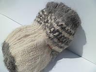 Шерстяные носки вязаные, ручная работа, цвет серый, размеры от 36 по 46