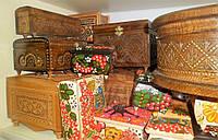 Шкатулка деревянная,  декоративная, с резьбой, ручная работа