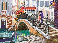 Схема вышивка бисером Свидание на мосту