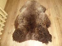 Шкура, овчина, коричневая с сиденой