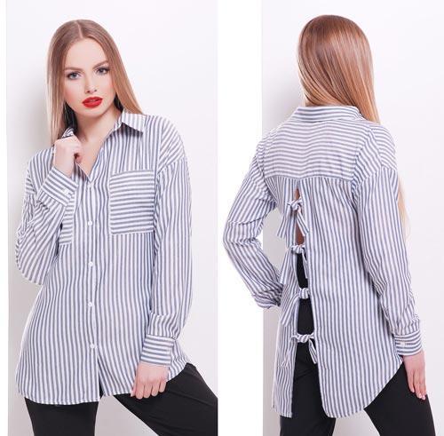 9a1248f1f09 Женская блузка в черную полоску с длинным рукавом купить в интернет ...