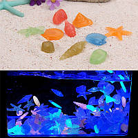 Светящийся в темноте камень! Отличное украшение для аквариума или дома!