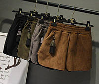 Женские замшевые шорты