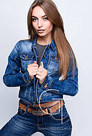 Джинсовая куртка 23673 (Синий)