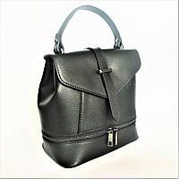 Сумка-рюкзак, кожа, Италия, black, фото 1