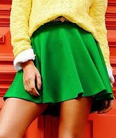 Женская расклешенная зеленая юбка (Миледи sk)