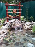 фонтан - водопад  из натурального бамбука. Автор Жаркова И.Р.