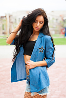 Джинсовый пиджак со свездами