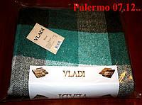 Плед  полуторный 140х200, тм. VLADI, Палермо «Palermo» 07.12 (хаки-бир-бел)
