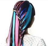 Цветные пряди на заколке , фото 8
