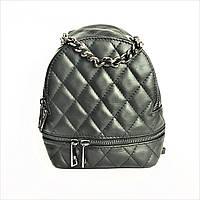 Кожаный чёрный рюкзачок, маленький, Италия, фото 1