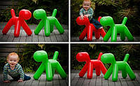 Детский стул-игрушка The Puppyкрасный полипропилен, средний размер, дизайнEero Aarnio
