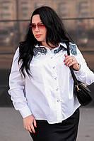 Рубашка женская белая большая Кружева