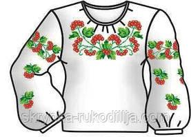 Заготовка дитячої блузки для вишивки хрестиком/бісером на тканині ГАБАРДИН