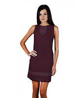 Темно-вишнева сукня вишита хрестиком. Плаття вишите хрестиком. Вишита жіноча сукня. Вишиванки жіночі.
