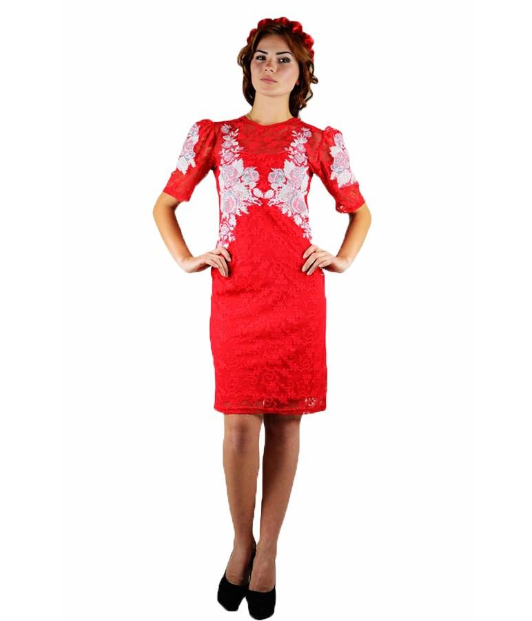 60714898166ec3 Червона сукня вишита. Плаття вишите хрестиком. Вишита жіноча сукня.  Вишиванки жіночі. Сукні