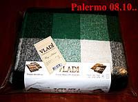 Плед  полуторный 140х200, тм. VLADI, Палермо «Palermo» 08.10 (зел-бел-черн)