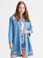 Куртка джинсовая рваная удлиненная, фото 1