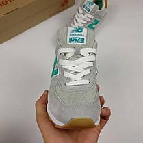 Женские кроссовки New Balance  серые топ реплика, фото 2