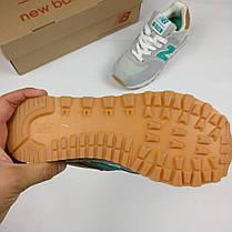 Женские кроссовки New Balance  серые топ реплика, фото 3