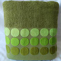 Однотонное качественное махровое полотенце для сауны. Размер 150*100